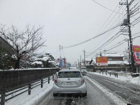 2年ぶりの積雪。ためらいと戸惑い…。