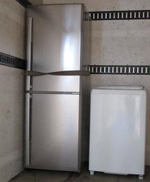 冷蔵庫と洗濯機、家電品引っ越し処分、かたづけ。