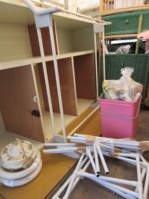 家具やラック、雑多な物の処分、熊谷市での作業です。