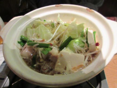 寒い時期に鍋料理、おいしいです。