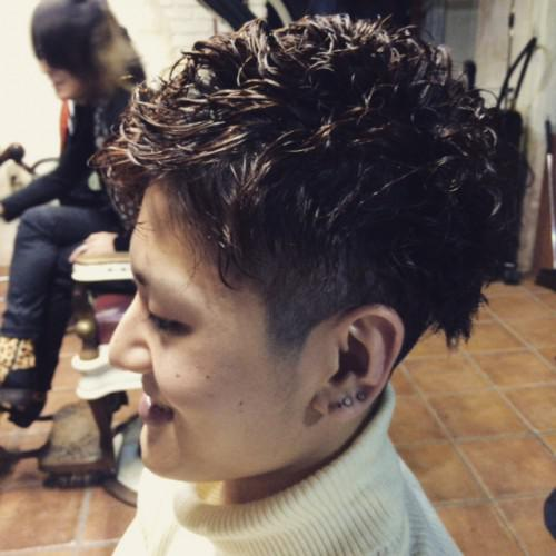 新潟 古町 barber パーマ ハイトーン