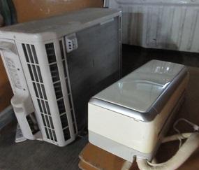 熊谷市かごはら地域、引越しエアコン取外し回収。