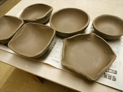 陶芸教室 東京 国立けんぼう窯 都内の仲良し3人が陶芸体験に