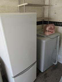 熊谷市かごはら地域、冷蔵庫と洗濯機など不用品回収です。