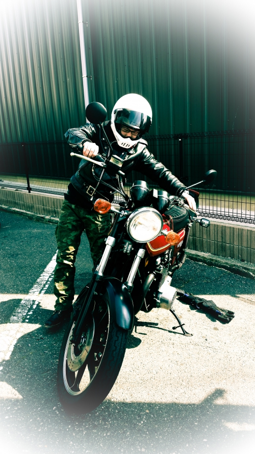 Kawasaki KZ1000 MK.?でツーリング