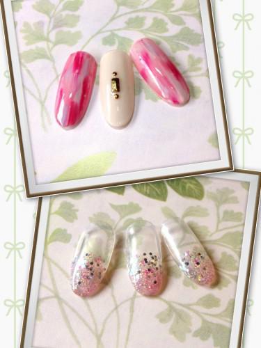 4月☆キャンペーンネイル☆桜色ネイル