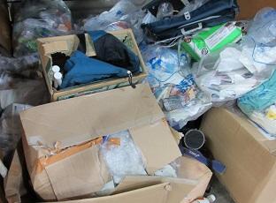 深谷市の県営団地お片付け、大量ごみ回収です。
