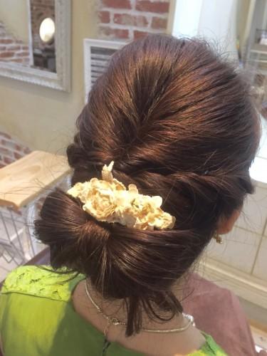 結婚式お呼ばれヘアー