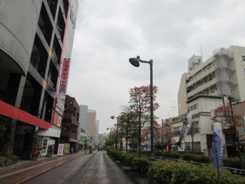 熊谷駅周辺、星川通り。