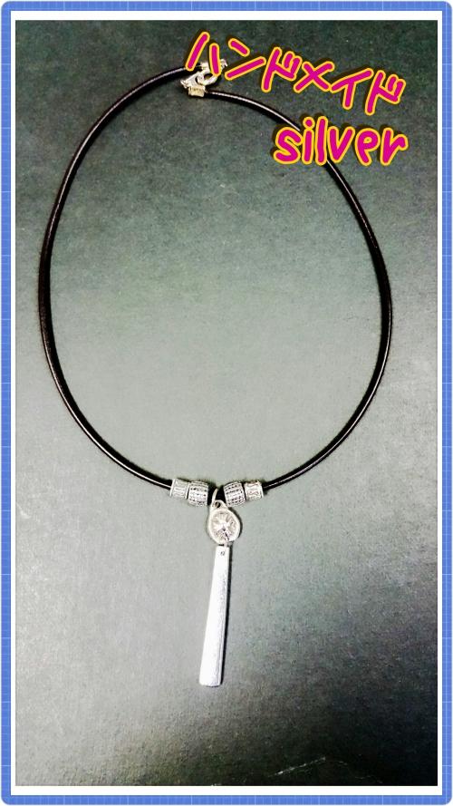 ハンドメイド★99.9%silverネックレス