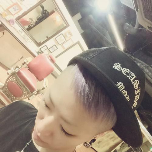 hair color barber 新潟 古町