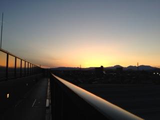 ゴールデンウィーク中の夕焼け
