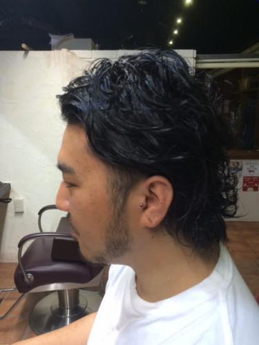 メンズパーマ 髭 barber 新潟 古町
