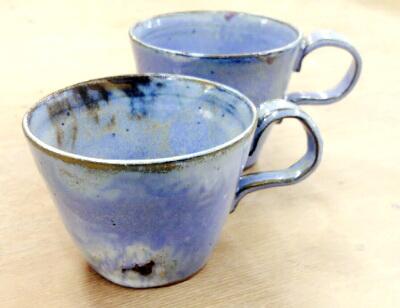 シャビーで涼しげなな雰囲気がなんともいえないコーヒーカップ。