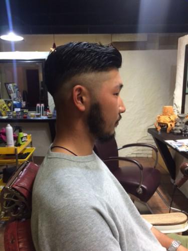 メンズスタイル 刈上げ 7:3 barber