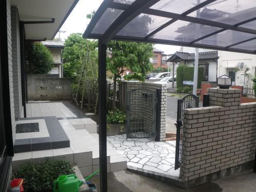 W邸 タイルテラス・アプローチ改修工事 at稲毛区