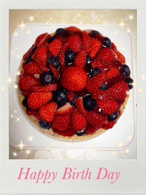 HAPPY BIRTH DAY  ケーキ作りました