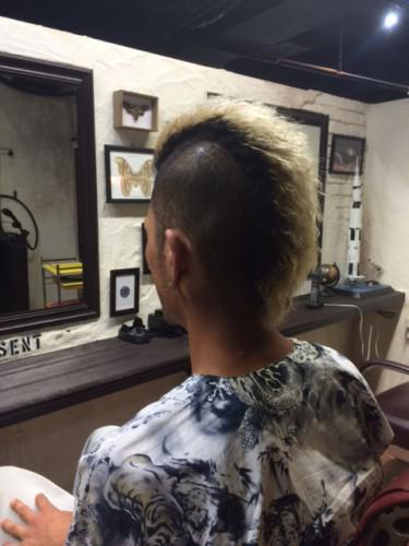 モヒカン パーマ barber
