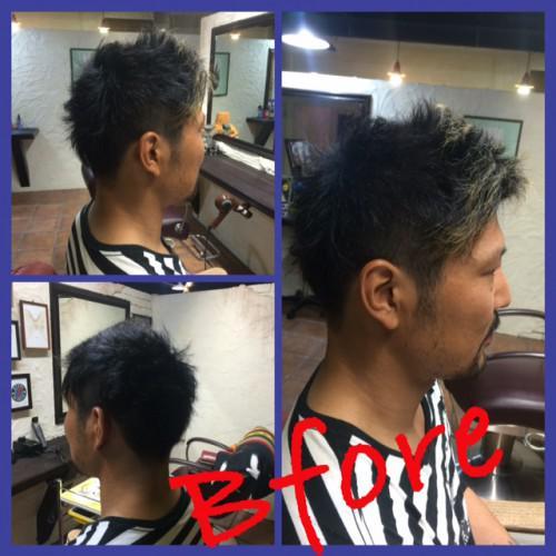 刈り上げ ポイントカラー barber