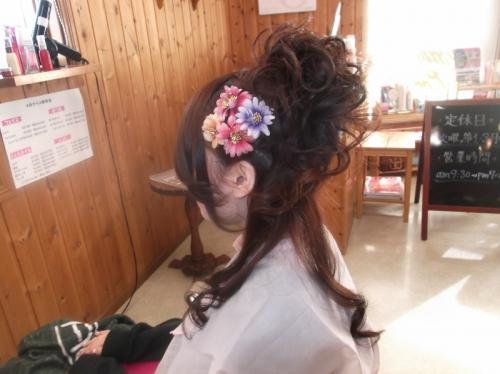 袴のヘアセット