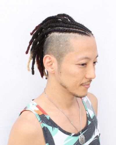 コーンロウ・ドレッド・2ブロック(ダンサー・タツオ)