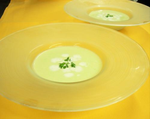 茶豆の冷製スープ