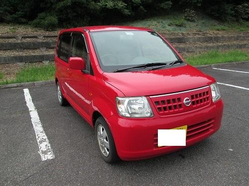 販売車両 赤色のボディーが綺麗な日産オッティ