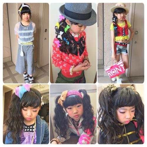 キッズヘアアレンジ キッズファッション Roni