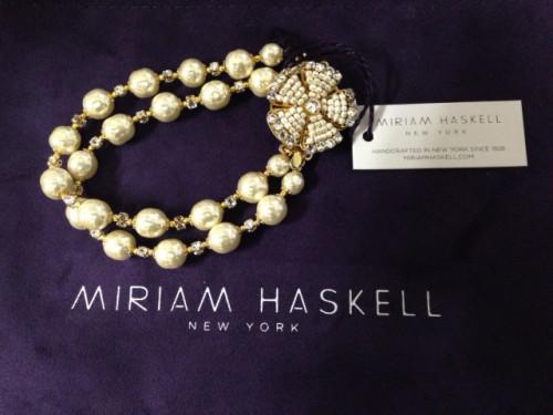 ミリアム・ハスケルのフラワーモチーフのブレスレット