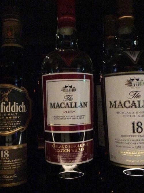 至高のウイスキーのひとつ マッカラン ルビー