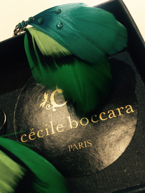 cecile boccaraの羽のピアス