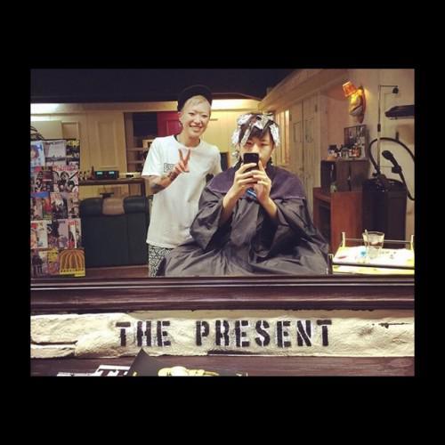 ポイントカラー メッシュ 理容室 barber 新潟