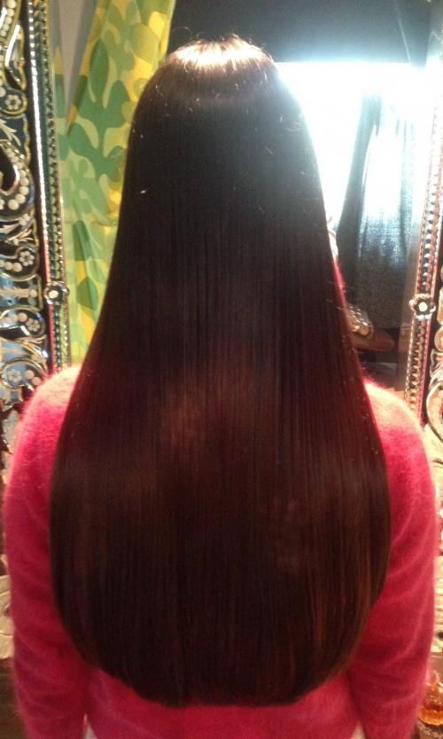 まとまるツヤ髪に♪痛まない自然な縮毛矯正、恵比寿