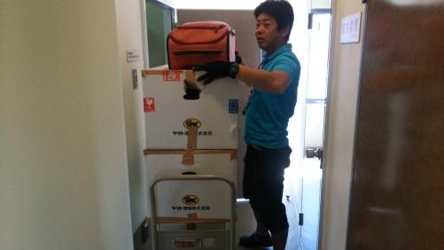 トランクルームの荷物を全部移動、青戸から立石。