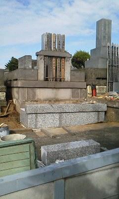 久保山墓地 墓石建て替え工事