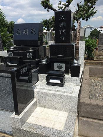 久保山墓地「K」様、墓石工事