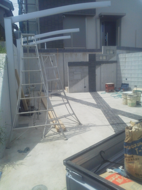 都筑区東山田で外構工事。