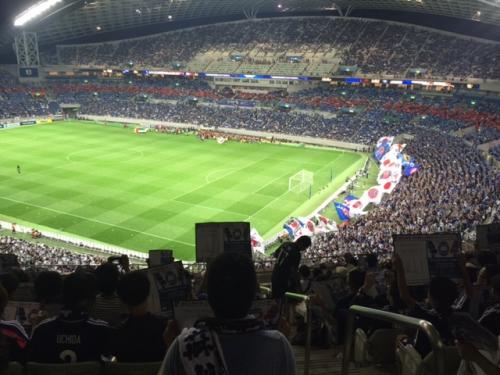 サッカー観戦