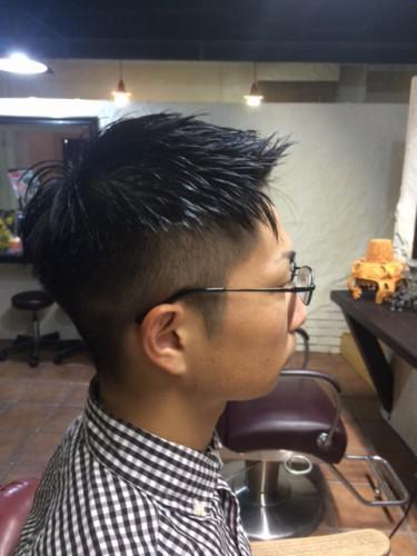 メンズヘア 刈り上げ フォワードスタイル 理容室 新潟