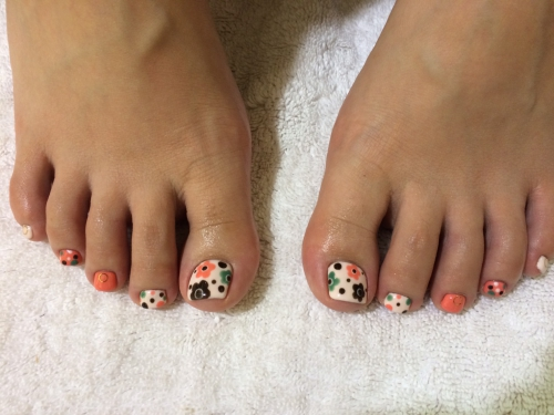 foot☆お花アート