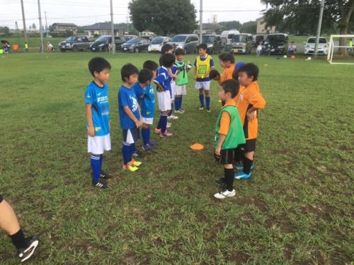 水戸市サッカー 1 年生チーム活動