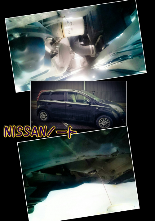 NISSANノートのオイル交換&エレメント交換