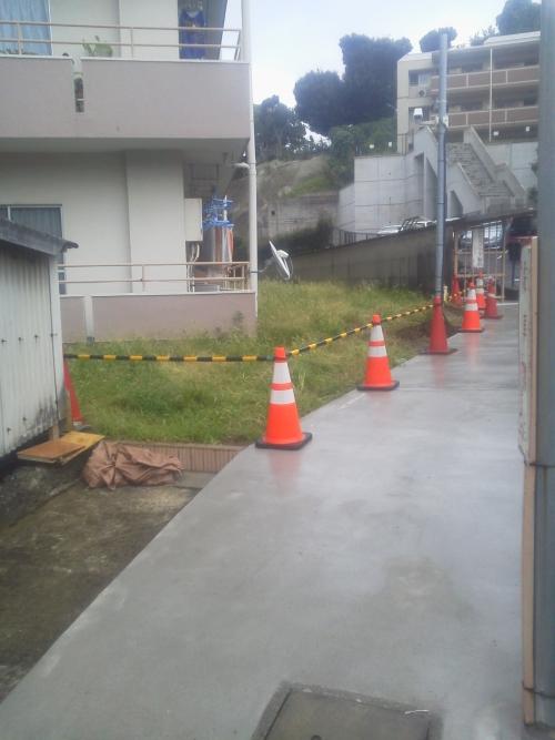 鶴見区で外構工事。