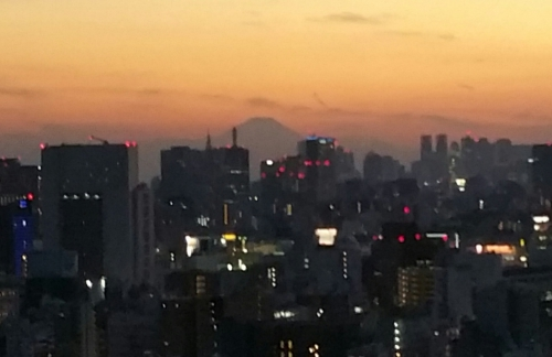 浅草から富士山見えました!
