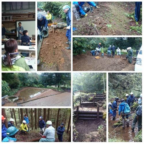 長泉農場にて、自然再生士実地研修会 第二回