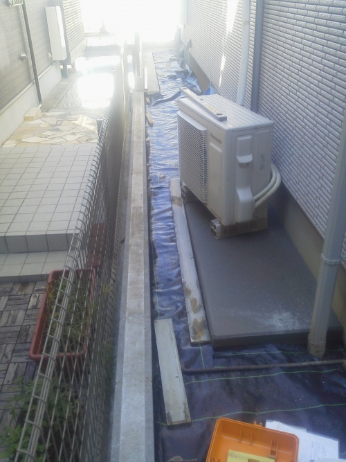川崎市宮前区野川でコンクリート工事