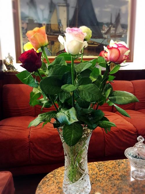 誕生日のお祝いにバラのプレゼント