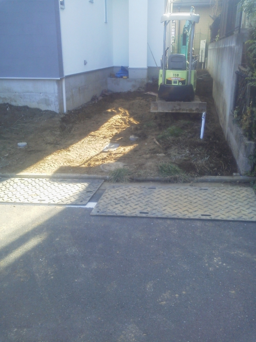 横浜市緑区で外構工事。