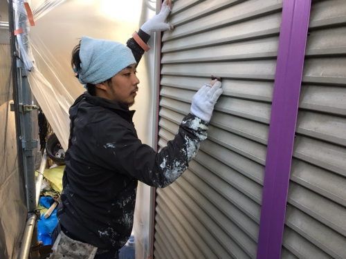 神奈川県江ノ島 N様邸外壁塗装 ケレン作業