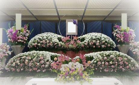 花祭壇を使ったご葬儀